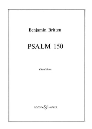 Psalm 150 Opus 67. Choeur seul BRITTEN Partition Chœur - laflutedepan