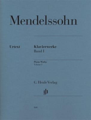 Oeuvres pour piano. Volume 1 MENDELSSOHN Partition laflutedepan