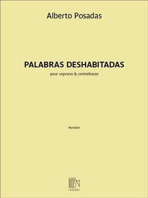 Palabras Deshabitadas - Alberto Posadas - Partition - laflutedepan.com