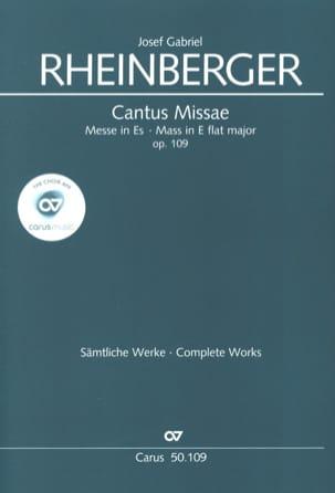 Cantus Missae En Mi Bémol Opus 109 RHEINBERGER Partition laflutedepan