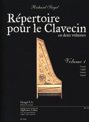 Répertoire Pour le Clavecin. Volume 1 Richard Siegel laflutedepan