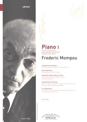 Piano. Volume 1 Federico Mompou Partition Piano - laflutedepan