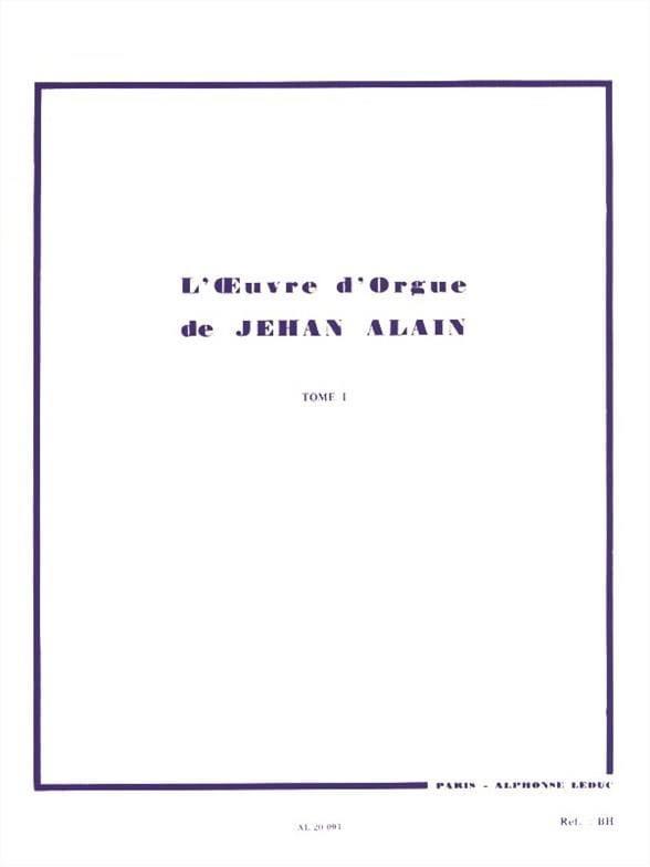 Oeuvre D'orgue. Volume 1 - Jehan Alain - Partition - laflutedepan.com