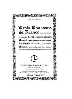 3 Chansons de France DEBUSSY Partition Mélodies - laflutedepan