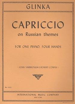Capriccio On Russian Themes. 4 Mains GLINKA Partition laflutedepan