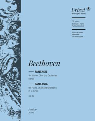 BEETHOVEN - Chorfantasia Opus 80 - Partition - di-arezzo.com