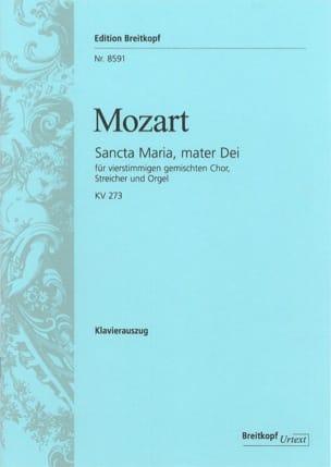 Sancta Maria, Mater Dei KV 273 - MOZART - Partition - laflutedepan.com