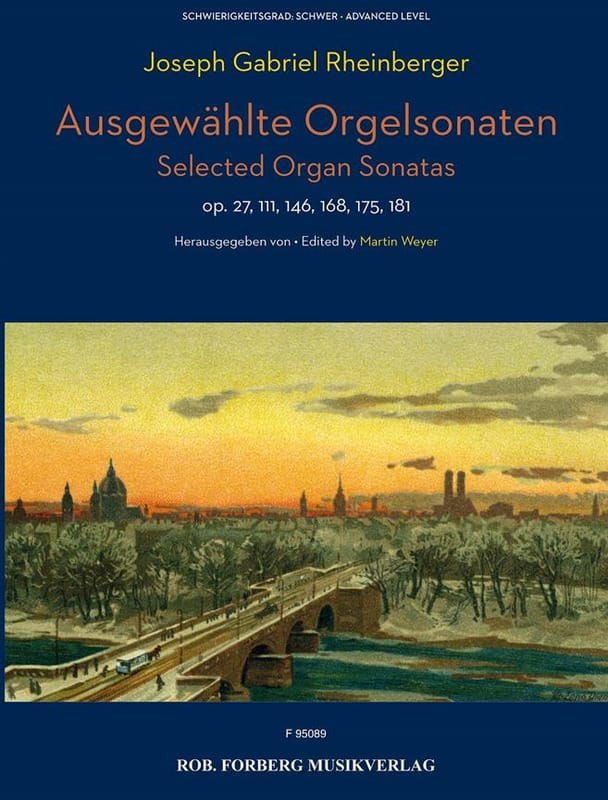 Ausgewählte Orgelsonaten - RHEINBERGER - Partition - laflutedepan.com