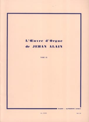 Jehan Alain - Organ Work. Volume 3 - Partition - di-arezzo.co.uk