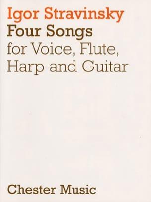 4 Songs STRAVINSKY Partition Musique de chambre vocale - laflutedepan