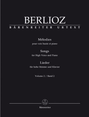Mélodies Volume 2. Voix Haute BERLIOZ Partition laflutedepan