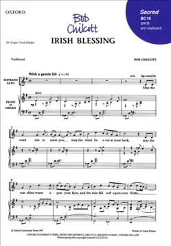 Irish blessing SATB Bob Chilcott Partition Chœur - laflutedepan