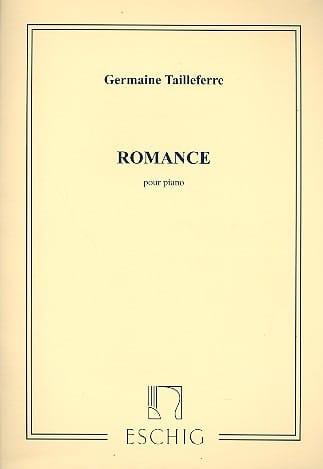 Romance - Germaine Tailleferre - Partition - Piano - laflutedepan.com