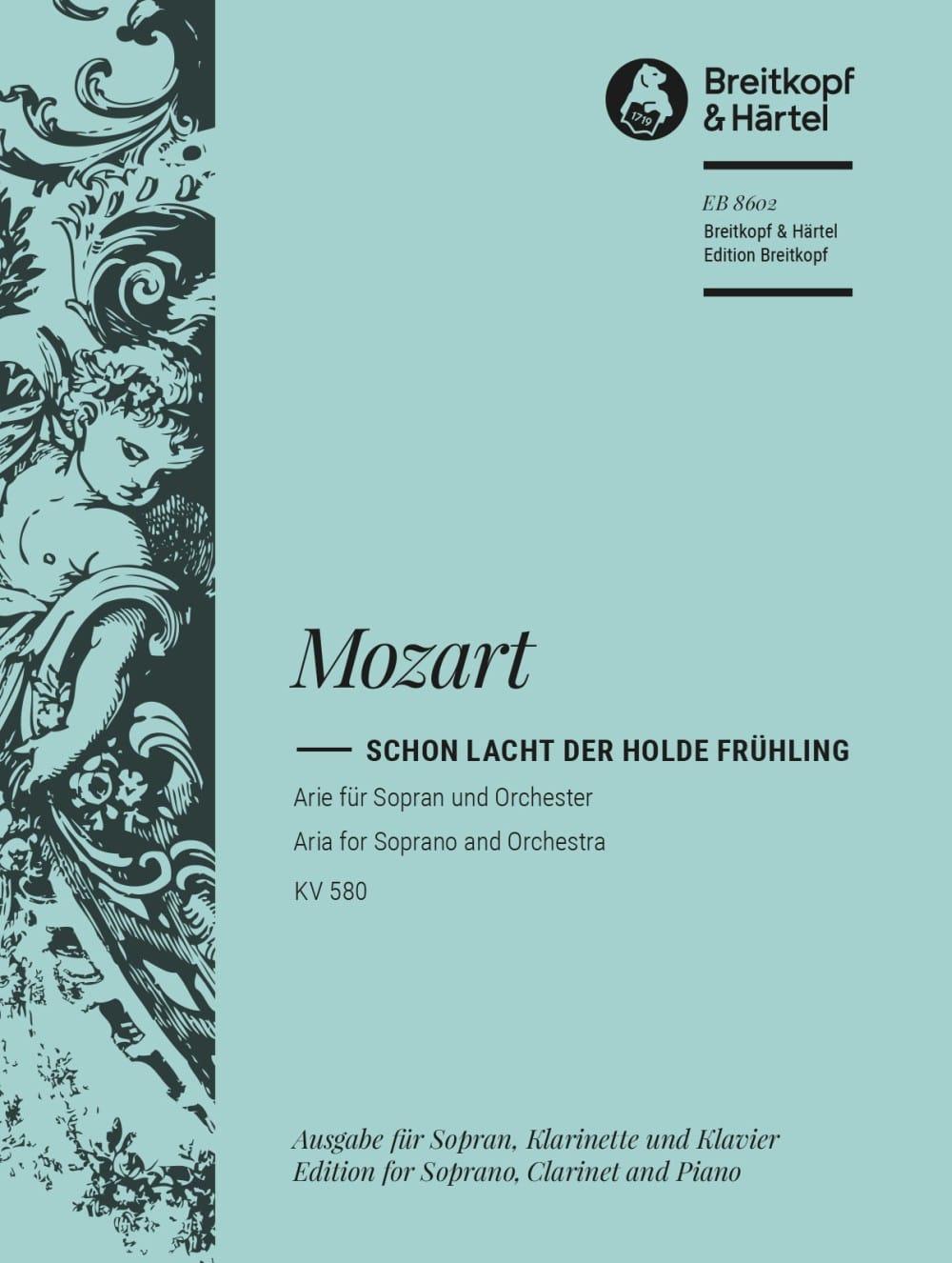 Schon Lacht Der Holde Frühling K 580 - MOZART - laflutedepan.com