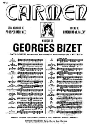 Séguedille. Carmen - BIZET - Partition - Opéras - laflutedepan.com