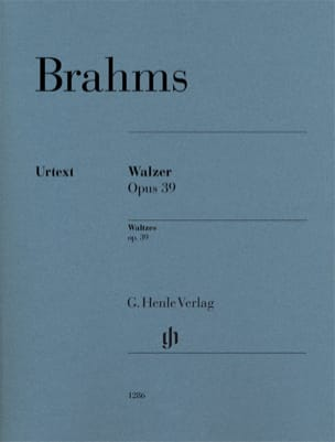 Valses Opus 39 BRAHMS Partition Piano - laflutedepan