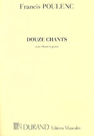 12 Chants POULENC Partition Mélodies - laflutedepan