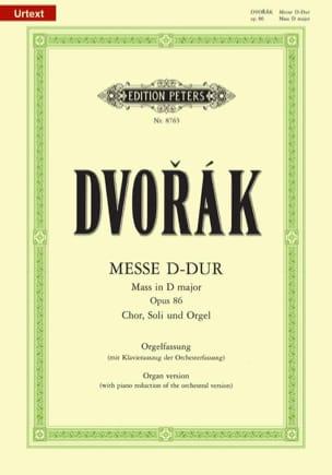 Messe En Ré Majeur Opus 86 DVORAK Partition Chœur - laflutedepan