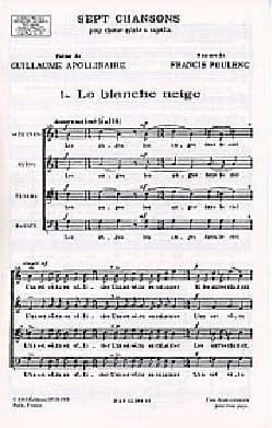 La Blanche Neige POULENC Partition Chœur - laflutedepan