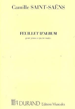 Feuillet D'album Op. 81. 4 Mains. SAINT-SAËNS Partition laflutedepan