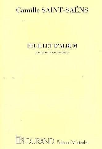 Feuillet D'album Op. 81. 4 Mains. - SAINT-SAËNS - laflutedepan.com