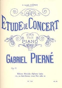 Etude De Concert Opus 13 PIERNE Partition Piano - laflutedepan