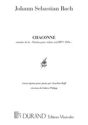 Chaconne BWV 1004 BACH Partition Piano - laflutedepan