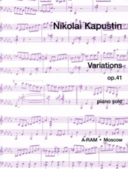 Variations Opus 41 - Nikolai Kapustin - Partition - laflutedepan.com