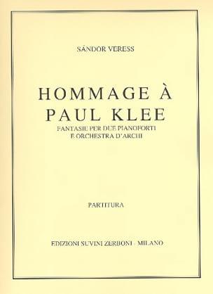Hommage à Paul Klee Sandor Veress Partition laflutedepan
