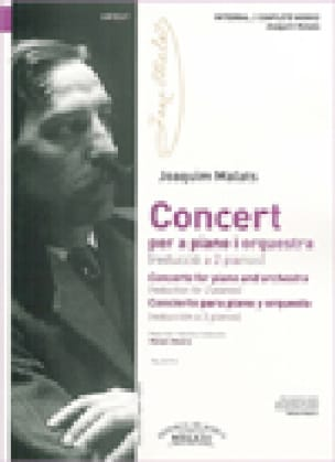 Concerto pour piano - Joaquim Malats - Partition - laflutedepan.com