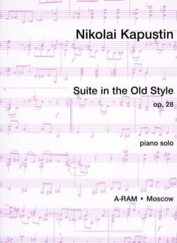 Suite In The Old Style Op. 28 Nikolai Kapustin Partition laflutedepan