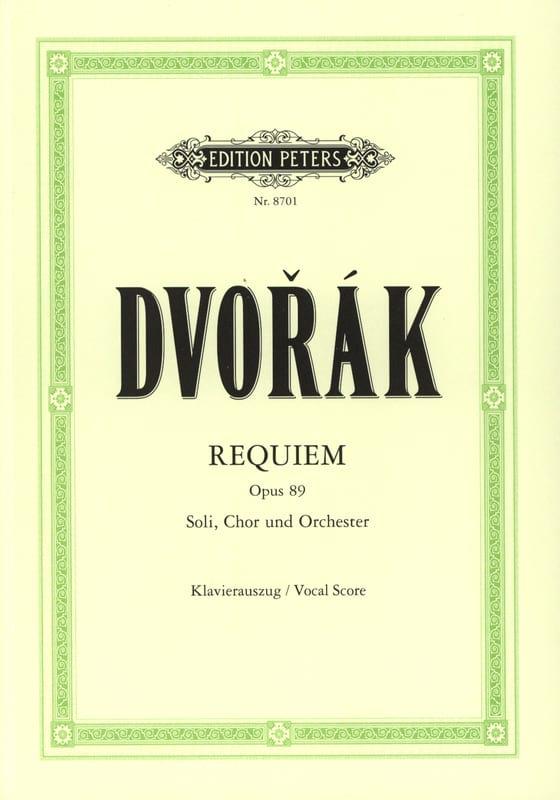 Requiem Opus 89 - DVORAK - Partition - Chœur - laflutedepan.com