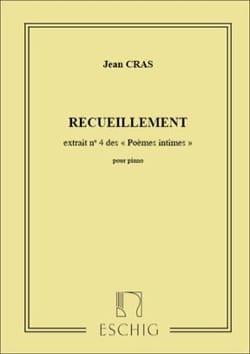 Recueillement Jean Cras Partition Piano - laflutedepan