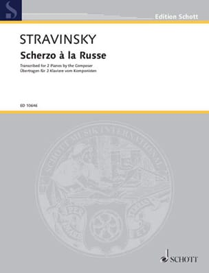 Igor Stravinski - Scherzo To the Russian. 2 Pianos - Partition - di-arezzo.com