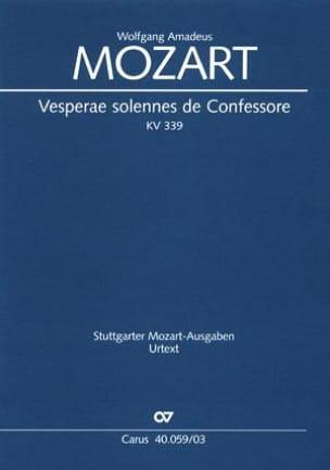Vêpres Solennelles d'un Confesseur - K 339 MOZART laflutedepan