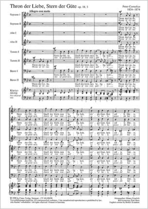 Thron Der Liebe Op. 18-3 Peter Cornelius Partition laflutedepan