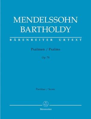 Psalmen Op. 78 MENDELSSOHN Partition Chœur - laflutedepan
