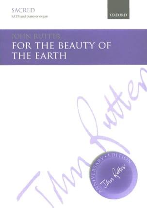 John Rutter - Por la belleza de la tierra - Partition - di-arezzo.es