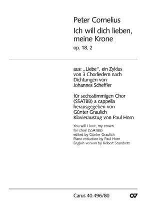 Ich Will Dich Lieben, Meine Krone Op. 18-2 - laflutedepan.com