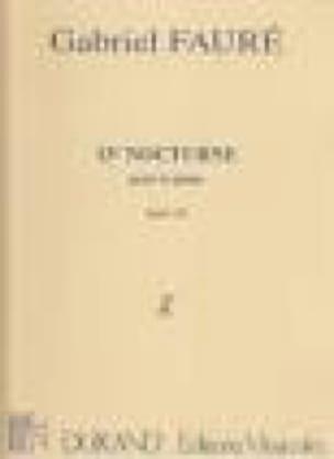Nocturne N°11 Opus 104-1 - FAURÉ - Partition - laflutedepan.com