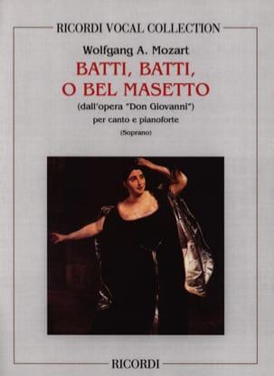 Batti, Batti. Don Giovanni MOZART Partition Opéras - laflutedepan