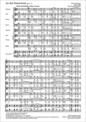 An Den Sturmwind Op. 11-2 Peter Cornelius Partition laflutedepan