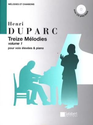 13 Mélodies. Voix Haute Henri Duparc Partition Mélodies - laflutedepan