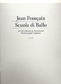 Scuola Di Ballo. 2 Pianos FRANÇAIX Partition Piano - laflutedepan