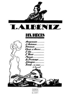 10 Pièces ALBENIZ Partition Piano - laflutedepan