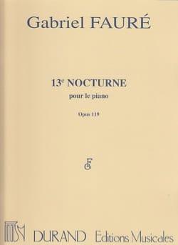 Nocturne N° 13 Opus 119 FAURÉ Partition Piano - laflutedepan