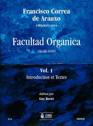 Facultad Organica Volume 1 de Arauxo Francisco Correa laflutedepan