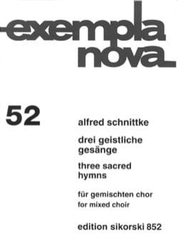 3 Geistliche Gesange 1984 SCHNITTKE Partition Chœur - laflutedepan