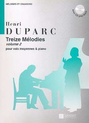 13 Mélodies. Voix Moyenne Henri Duparc Partition laflutedepan