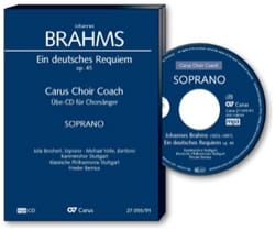 Ein Deutsches Requiem Opus 45. CD Soprano CHOEUR BRAHMS laflutedepan